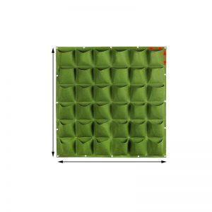 100 Cm x 100 Cm 36 Saksılı Keçe Duvar Saksısı Yeşil